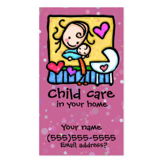 LIttleGirlie Babysitter Child Care Custom card PNK Pack Of Standard Business Cards
