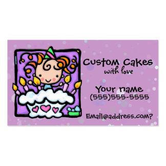 LITTLEGIRLIE Cake decorating Custom card Business Card Templates