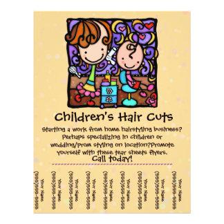 LittleGirlie cuts styles childrens hair TAN Full Color Flyer
