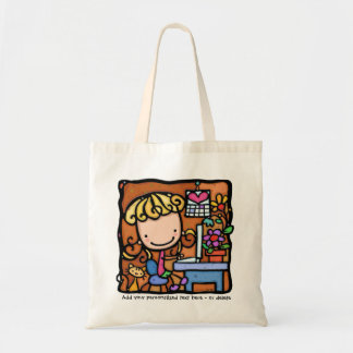 LittleGirlie designer writer bookkeeper cutie TOTE Tote Bag
