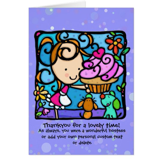 LittleGirlie is a sweet hostess Card