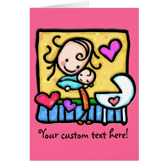 LittleGirlie loves her baby! Card
