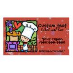 LittleGirlie loves to bake fresh bread Dk Rust Pack Of Standard Business Cards