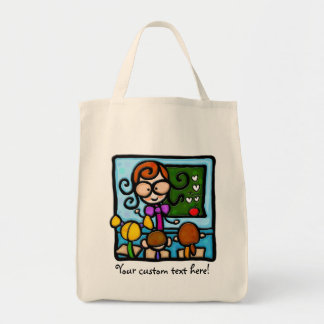 LittleGirlie plays teacher! Tote Bags