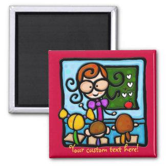 LittleGirlie plays teacher! Refrigerator Magnet