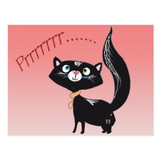 LittlePixyBoots - *Blacky* Kitty Cat Postcard