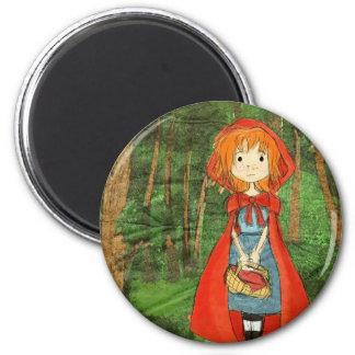 littleredforest 6 cm round magnet