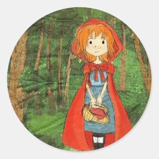 littleredforest round sticker