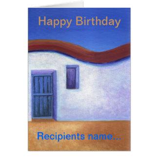 LittleVilla Personalised Happy Birthday Art  Card