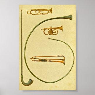 Lituus, Buccina, Cornet, Trumpet Poster
