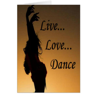 Liv Love Dance Stationery Note Card