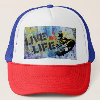 Live A Dope Life Skater Skateboard Trucker's Hat