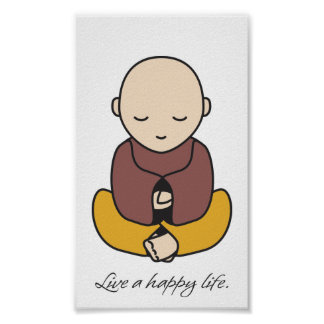 Live a happy life poster