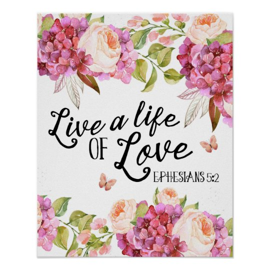 Live a life of love Ephesians quote artwork