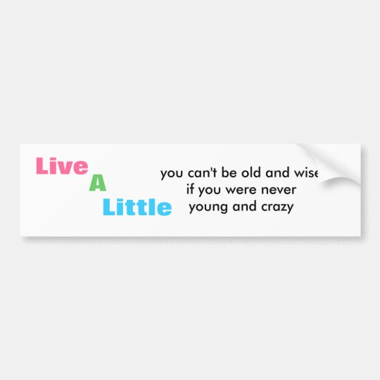 live a little bumper sticker