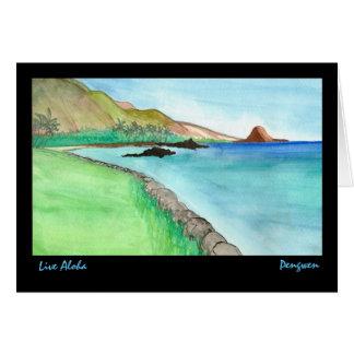 Live Aloha greeting card, painting of South Maui Card