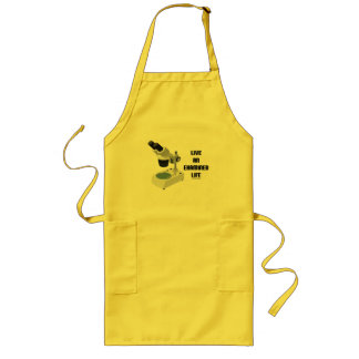 Live An Examined Life (Microscope) Long Apron