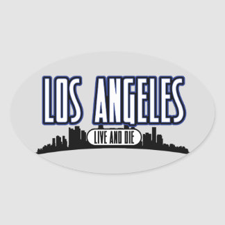 Live and Die In LA Oval Sticker
