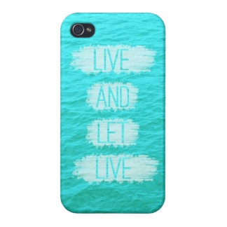 Live and Let Live Ocean iPhone Case iPhone 4/4S Covers