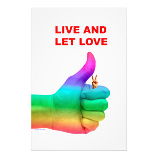 "Live and Let Love 24"" x 36"" Photo Enlargement"