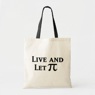 Live and Let Pi Day Parody Canvas Bag