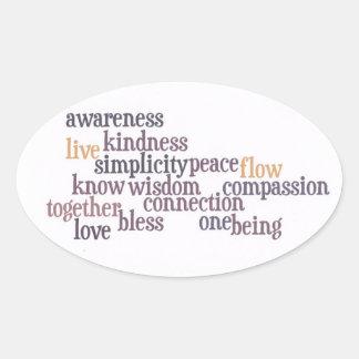 Live Awareness Oval Sticker