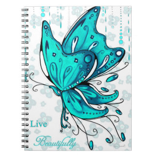 Live Beautifully Butterfly Notebook