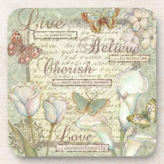 Live Believe Cherish Coaster