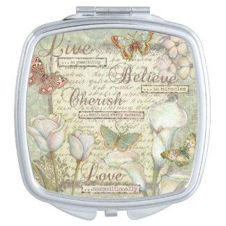 Live Believe Cherish Vanity Mirror