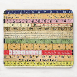 LIVE BETTER RULERS RULES COLORFUL SCRAPBOOKING DIG MOUSEPADS