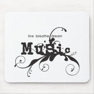 Live, Breathe, Dream Music Mouse Pad