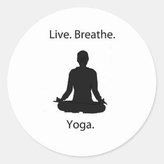 live breathe yoga stickers