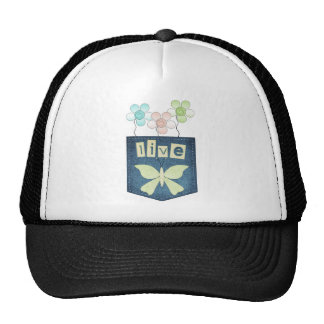 Live Butterfly Patch Hat
