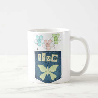 Live Butterfly Patch Mug