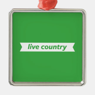 Live Country Christmas Ornament