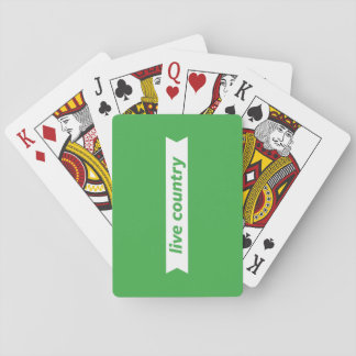 Live Country Poker Deck