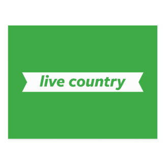 Live Country Postcard