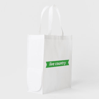 Live Country Reusable Grocery Bag