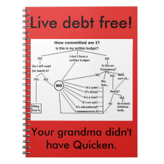 live debt free and track spending notebook