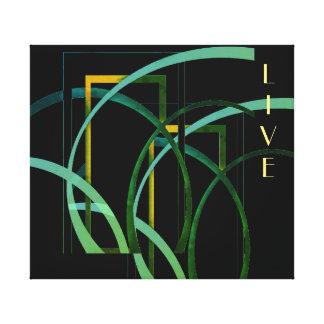 """Live"" Design Canvas Print"