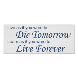 Live - Die Tomorrow blue Poster