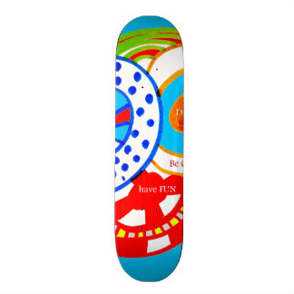 Live Dream Be Crazy Have Fun Colorful Doodle 20.6 Cm Skateboard Deck