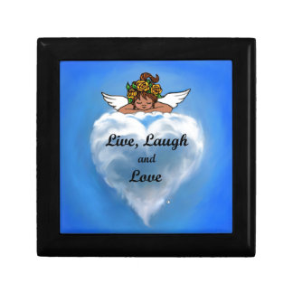 Live Ethnic Angel Small Square Gift Box