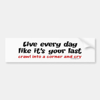 Live Every Day Bumpersticker Bumper Sticker