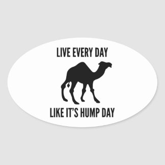 Live Every Day Like It's Hump Day Oval Sticker