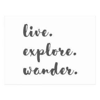 Live Explore Wander Postcard