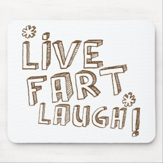 *LIVE FART LAUGH! MOUSE PAD