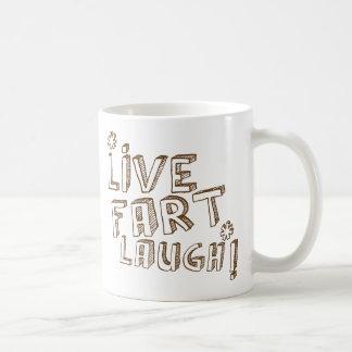 *LIVE FART LAUGH! BASIC WHITE MUG