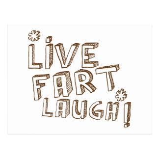 *LIVE FART LAUGH! POSTCARD