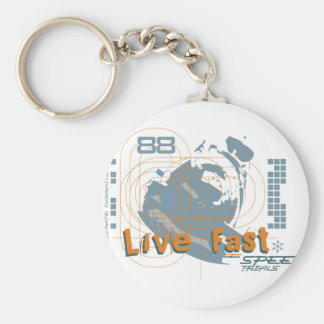 Live Fast Basic Round Button Key Ring